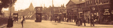 Rushey Green, the view south from Wildfell Road, 1907